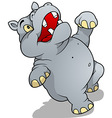 Dancing Hippo vector image vector image