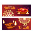 diwali banners set vector image vector image