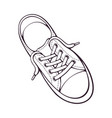 doodle one textile sneaker with rubber toe vector image