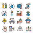 ecology filled outline icons vector image