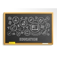 Education hand draw integrated icons set on school vector image vector image