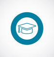 education icon bold blue circle border vector image