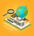 education isometric pictures composition vector image vector image