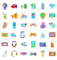 electronic device icons set cartoon style vector image vector image