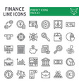 finance line icon set money symbols collection vector image