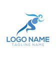 fitness logo and icon design vector image