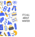 flat style winter sports equipment vector image vector image