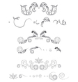floral shapes set vector image vector image