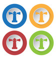 four round color icons lighthouse vector image vector image