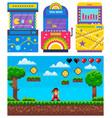 gamble machine pixel game adventure icon vector image vector image