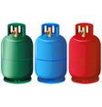 Gas tanks vector image