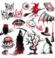 halloween and horror hand drawn set vector image vector image