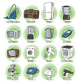 Hand drawn household appliances vector image
