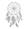 Hand drawn monochrome Dreamcatcher isolated on vector image vector image