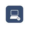 icon remove computer vector image vector image
