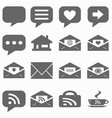internet icons set - website buttons - mess vector image vector image