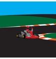 Kart rasing winner vector image