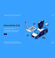 landing page insurance car service vector image