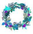 leaves wreath vector image vector image