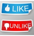 Like and unlike label vector image