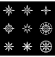 line wind rose icon set vector image