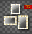 mirror for make-up or a photo frame vector image vector image