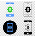 mobile banking service eps icon with vector image