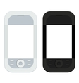modern smartphones isolated on white vector image vector image