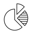 monochrome pie chart statistics icon vector image