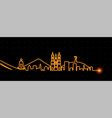 quito light streak skyline vector image vector image