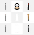 realistic brush brow makeup tool collagen tube vector image vector image
