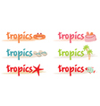 Rest symbols in tropics vector image