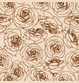 roses seamless pattern in vintage style vector image