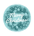 round vintage christmas banner with hand drawn vector image vector image
