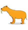 Saber toothed tiger vector image vector image