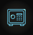 safe box icon in neon line style vector image
