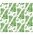 Seamless texture with green ferns and leaves for