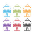set abstract middle east buildings design vector image