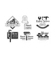set of creative logos for repair services vector image