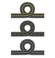 Set of roads with loop vector image