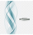 smooth blue abstract water wave vector image vector image