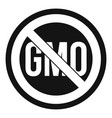 stop gmo icon simple style vector image