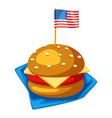 stylized hamburger or cheeseburger vector image vector image