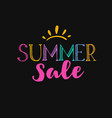 summer sale template 1 vector image vector image