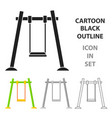swing icon in cartoon style isolated on white vector image vector image