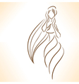 Symbolic silhouette of woman vector image vector image