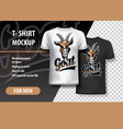t-shirt template fully editable with goat team vector image