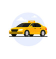 taxi car flat cab transport taxi side view vector image
