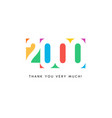 two thousand subscribers baner colorful logo vector image vector image