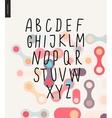 uppercase alphabet 1 vector image